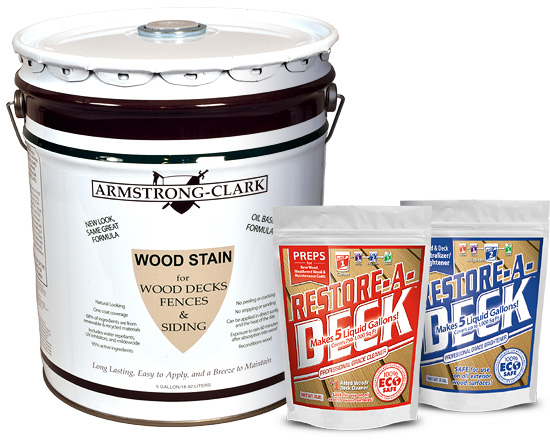Armstrong clark stain 5 gallon restore a deck cleaner for Revive deck cleaner