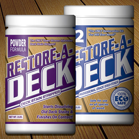 how to clean a stained deck